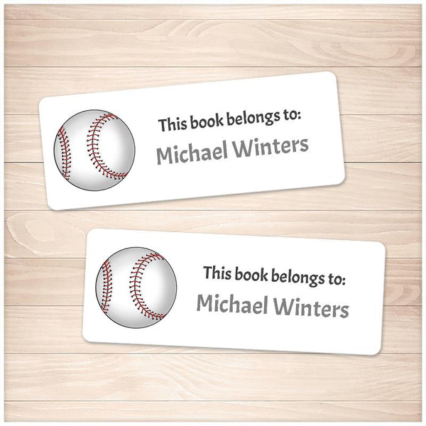 Baseball Bookplate Labels for Name Labeling Books - Printable