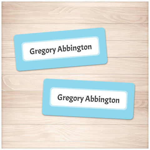 Printable Blue Border Name Labels for School Supplies at Printable Planning