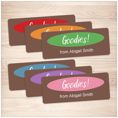 Brown and Color Goodies Personalized Baking Labels - Printable