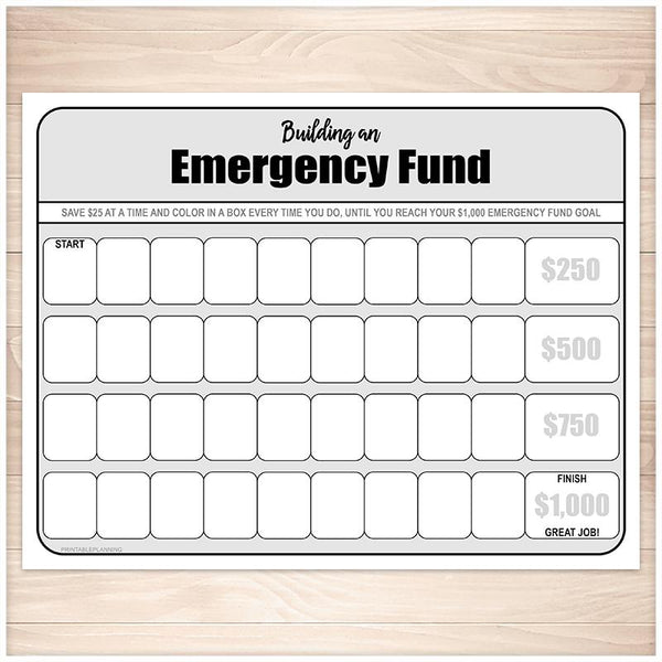 Financial BUNDLE: Bill Payment, Transaction Register, Emergency Fund, Debt Payoff - Printable, at Printable Planning