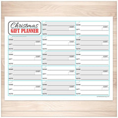 Christmas Gift Planning List - Holiday Organizer - Printable Planning