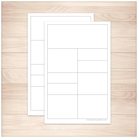 Compartmentalized Scratch Paper - Half Page - Printable Planning