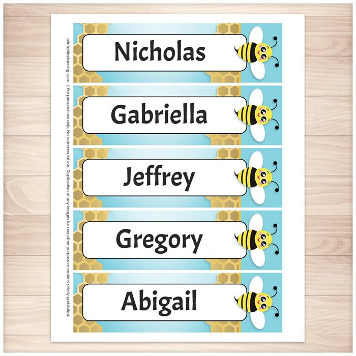 graphic relating to Bookmarks Printable identified as Custom made Adorable Honeycomb Bee Bookmarks - Printable at Printable Coming up with for simply just 5.00