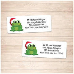 Cute Santa Hat Froggy Address Labels - Printable Planning