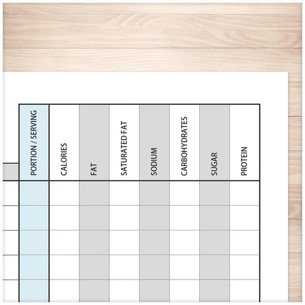 Daily Food Content Tracking Sheet - Printable at Printable ...