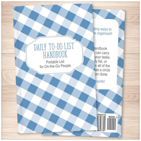 Daily To-Do List Handbook: Portable List for On-the-Go People (Published Book) - Blue Gingham