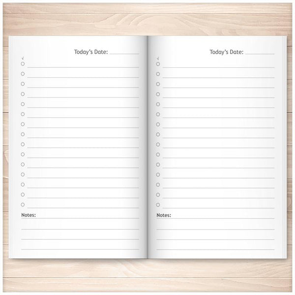 Daily To-Do List Handbook: Portable List for On-the-Go People (Published Book) - Blue Gingham INSIDE PAGES
