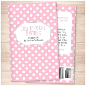 Daily To-Do List Handbook: Portable List for On-the-Go People (Published Book) - Pink Polka Dot