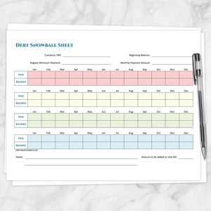 Printable Debt Snowball Sheet and Debt Payoff Plan - BUNDLE at Printable Planning
