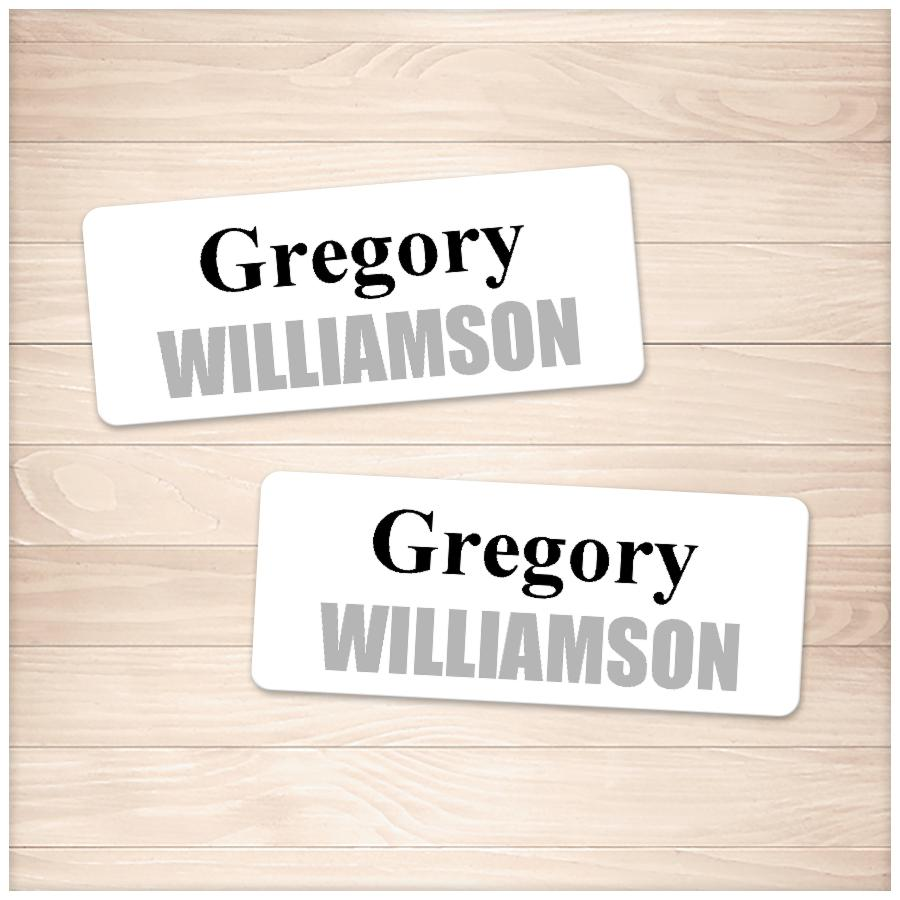 Printable Name Labels Black and Gray for School Supplies at Printable Planning