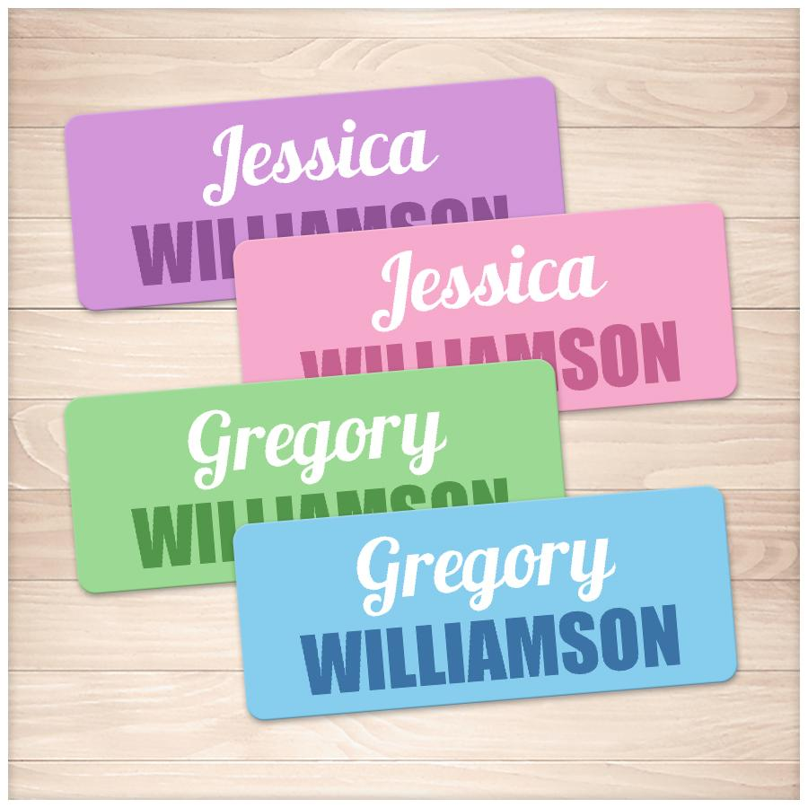 photo about Printable Name Labels identified as Track record Labels for Higher education Components Coloured Deal - Printable at Printable Designing for basically 8.00