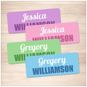 Printable Name Labels for School Supplies Colored BUNDLE at Printable Planning