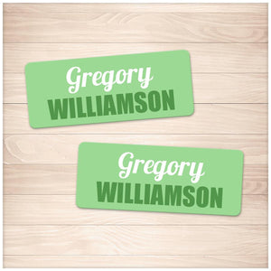 Printable Green Name Labels for School Supplies at Printable Planning