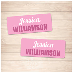Printable Pink Name Labels for School Supplies at Printable Planning