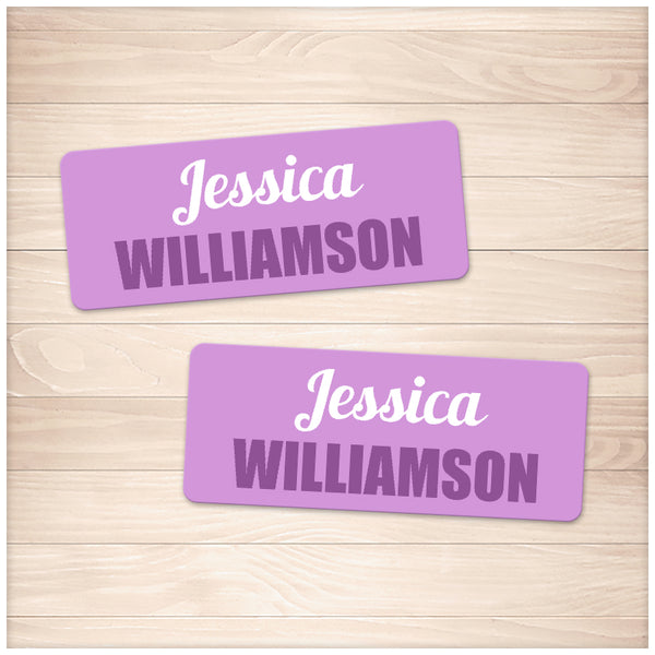 Printable Purple Name Labels for School Supplies at Printable Planning