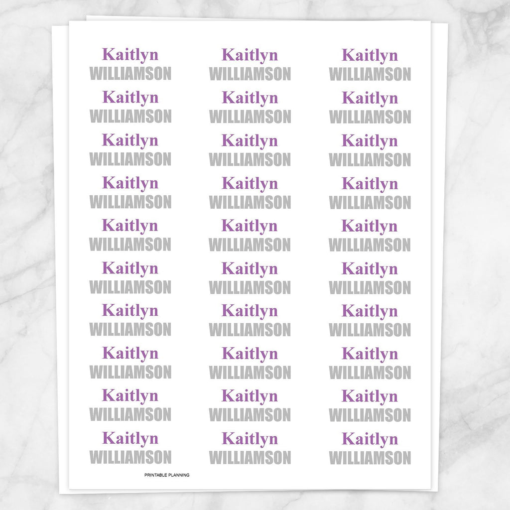 photo regarding Printable Name Labels titled Popularity Labels Crimson and Grey for College or university Elements - Printable at Printable Developing for basically 4.00
