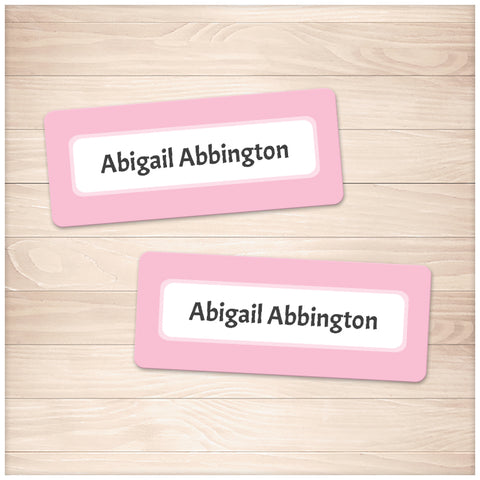 Printable Pink Border Name Labels for School Supplies at Printable Planning