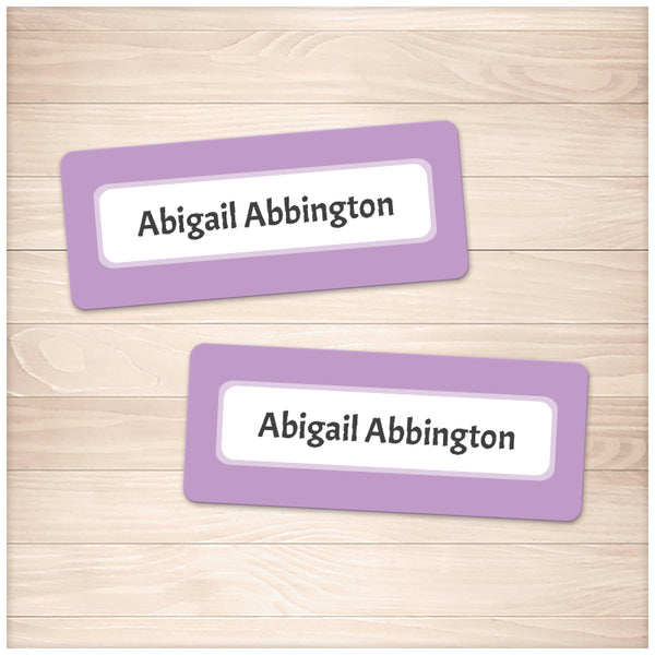 Printable Purple Border Name Labels for School Supplies at Printable Planning