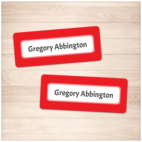 Printable Red Border Name Labels for School Supplies at Printable Planning