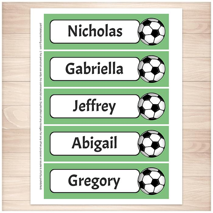 photograph relating to Soccer Printable referred to as Tailored Football Inexperienced Crimson Red and Blue Bookmarks - Printable
