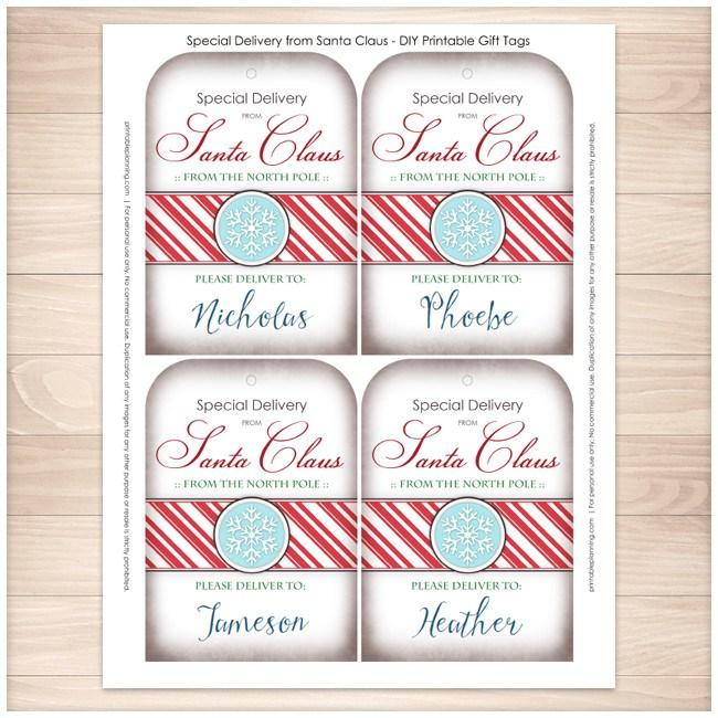 Special delivery from santa claus personalized gift tags special delivery from santa claus personalized gift tags printable printable planning negle Images
