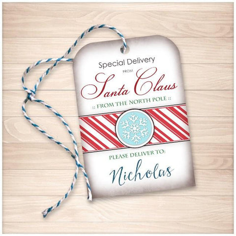 Special Delivery from Santa Claus - Personalized Gift Tags - Printable Planning