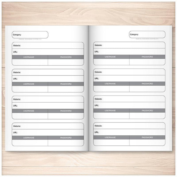 The Usernames and Passwords Book: Keep Track, Stay Organized (Published Book) INSIDE PAGES