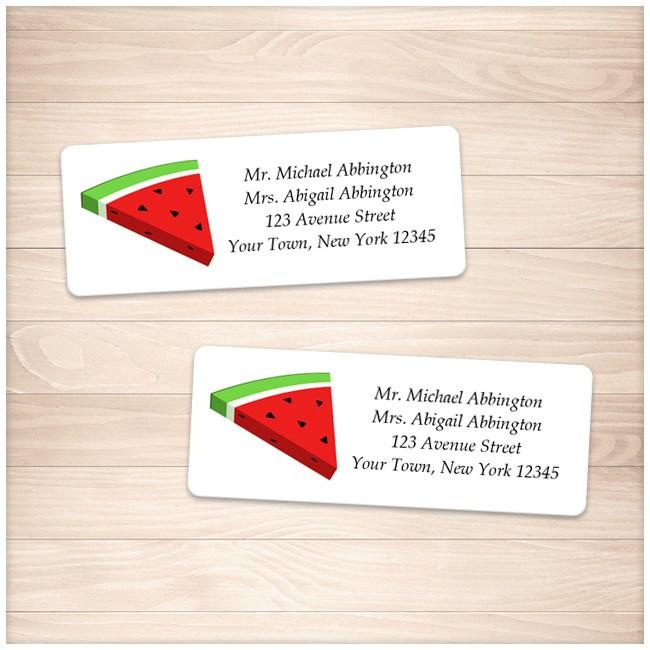Watermelon Slice Personalized Address Labels - Printable Planning