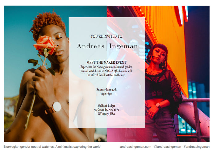 EVENT INVITE; Andreas Ingeman at Wolf and Badger NYC