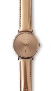 Andreas Ingeman watches - One O NINE watch with rose gold lacquer wristband. O NINE Collection.