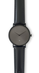 Andreas Ingeman watches - Three O NINE watch with black lacquer wristband. O NINE Collection.