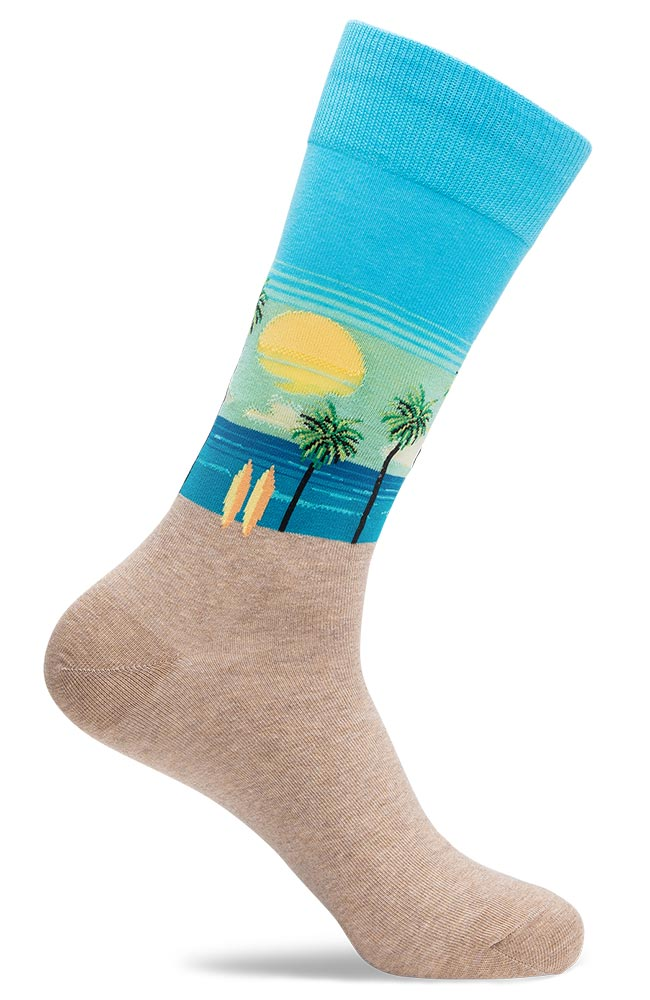 Mens Beach Novelty Dress Socks