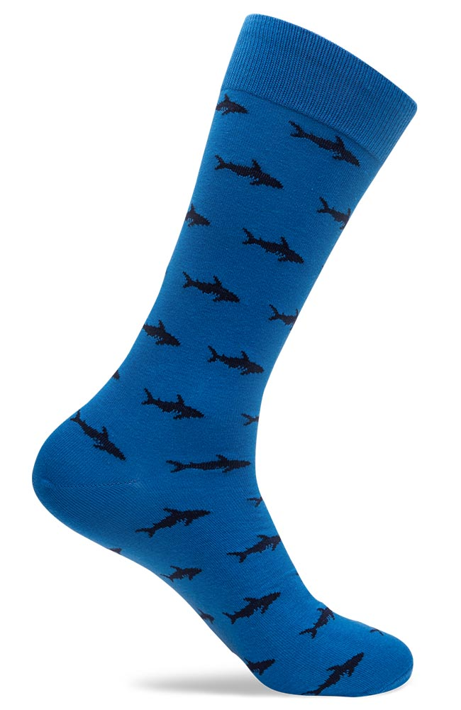 Mens Shark Patterned Socks