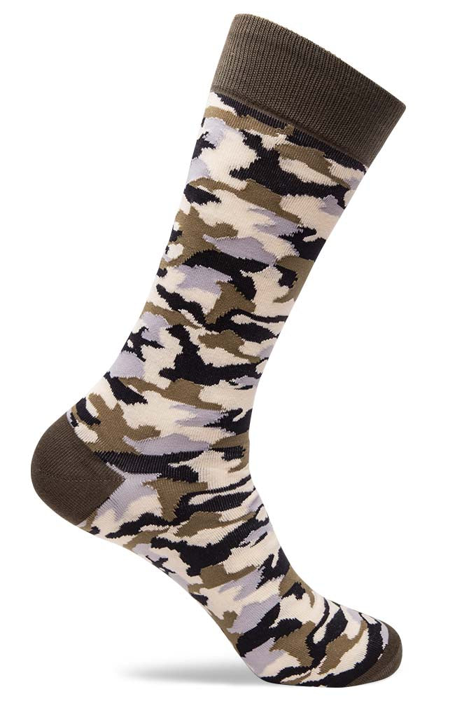 Mens Camo Patterned Socks