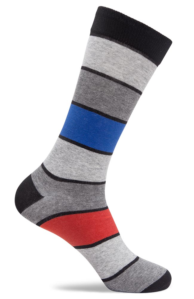 Mens Color Block Stripe Socks