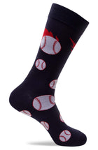 Mens Baseball Novelty Dress Socks