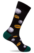 Mens Golf Motif Dress Socks