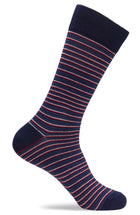 Mens Fun Mini Stripe Dress Socks