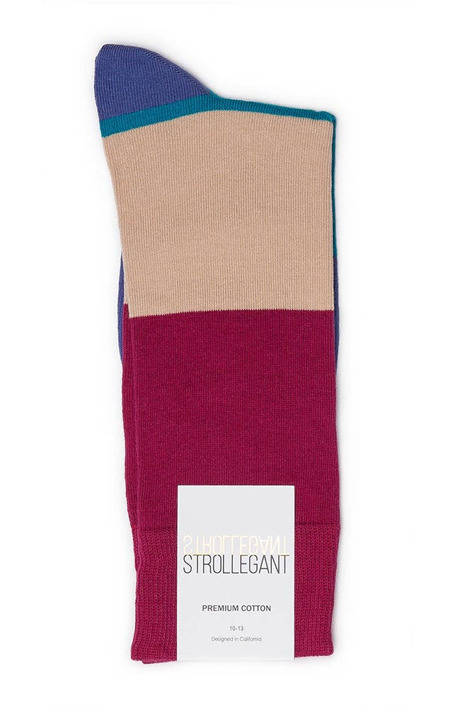 Strollegant Block Striped Socks