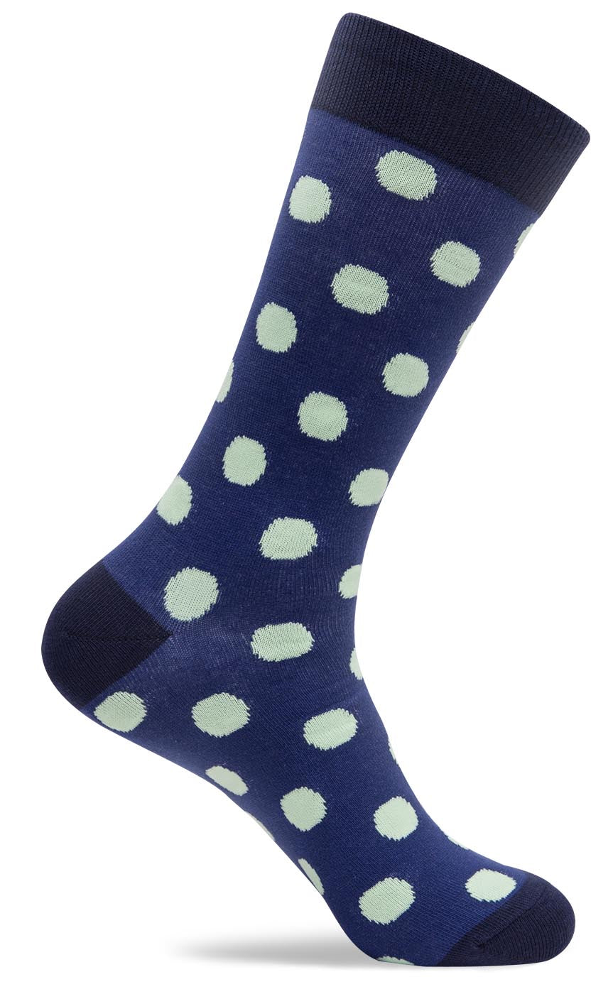 Mens Chunk Polka Dot Socks