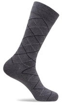 Mens Diagonal Diamond Dress Socks