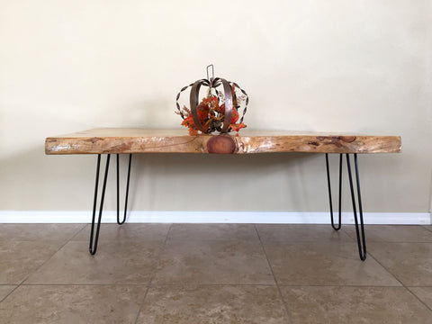 Fir Live Edge Coffee Table (Front)