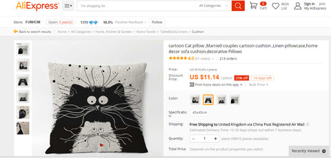 You're Purrfect Aliexpress cute cartoon cat cushion cover Alibaba