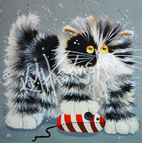 Butch cat painting by Kim Haskins