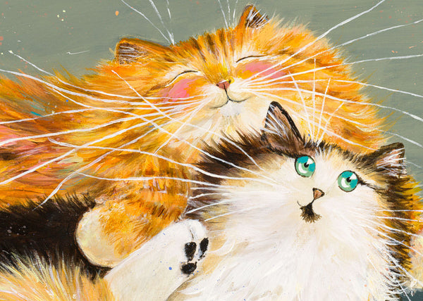 Detail of Cuddle Cats by Kim Haskins