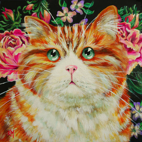 Marmalade cat painting by Kim Haskins