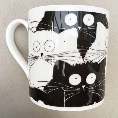 Flash Mog cat mug by Kim Haskins