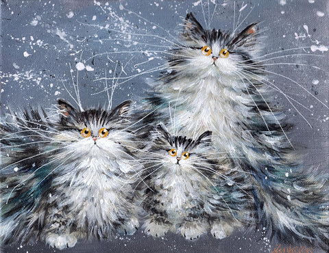 Fluffy Tabby Family