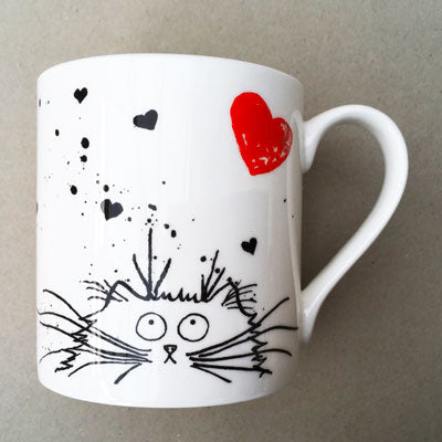 Loving Felines cat mug by Kim Haskins