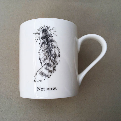 Not Now cat mug by Kim Haskins
